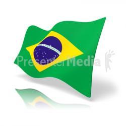 Brazil clipart green flag