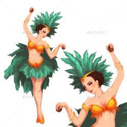 Brazil clipart samba dancer