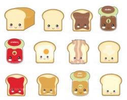 Toast clipart cute