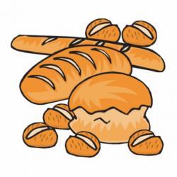Bread Roll clipart piece bread