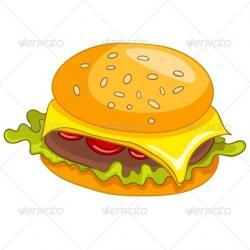 Burger clipart thin
