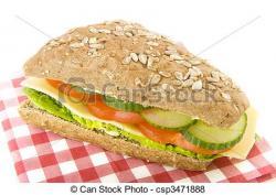 Bread Roll clipart sandwhich