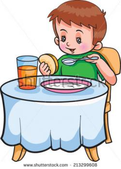 Cereal clipart kid breakfast