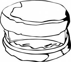 Dumpling clipart black and white