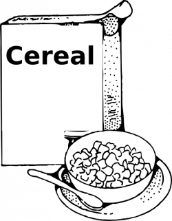 Cereal clipart black and white