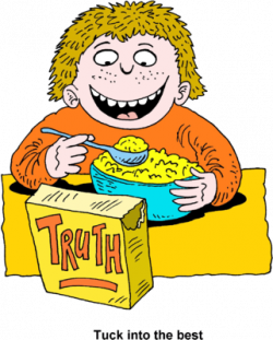 Cereal clipart boy eating