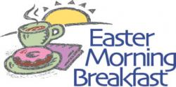 Breakfast clipart easter morning