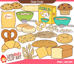 Grains clipart milk group