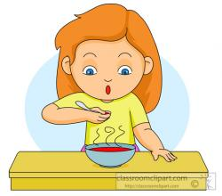 Soup clipart man eating