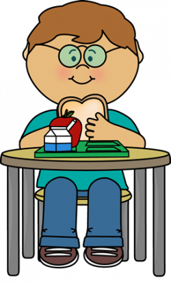 Cafeteria clipart kid lunch