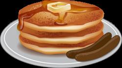Breakfast clipart pancake sausage