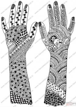 Drawn mehndi