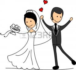 Bride clipart bride and groom