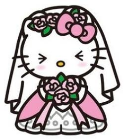 Wedding clipart hello kitty