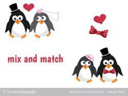Wedding clipart penguin
