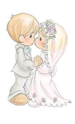 Bride clipart precious moment