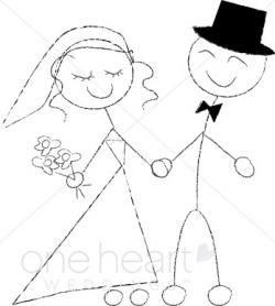Bride clipart stick figure