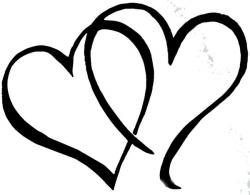 Hearts clipart bridal