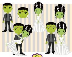 Bride Of Frankenstein  clipart bride art