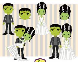 Bride Of Frankenstein  clipart bride art