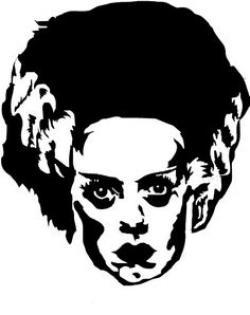 Bride Of Frankenstein  clipart head