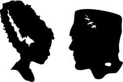 Bride Of Frankenstein  clipart silhouette