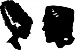 Bride Of Frankenstein  clipart silhouette