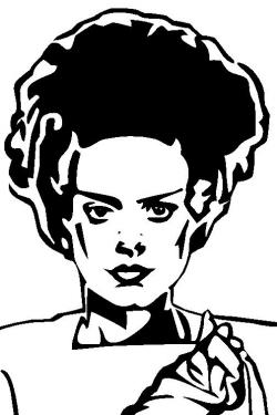 Bride Of Frankenstein  clipart vector art