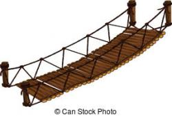 Rope Bridge clipart old