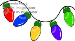 Christmas Lights clipart bright
