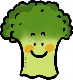 Broccoli clipart cute cartoon