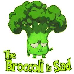 Broccoli clipart sad