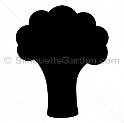 Broccoli clipart silhouette