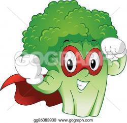 Broccoli clipart strong
