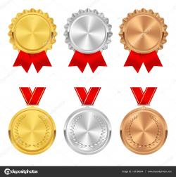 Bronze clipart gold rosette