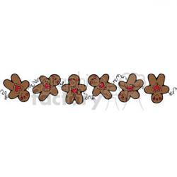 Gingerbread clipart boarder