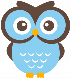 Barred Owl clipart blue owl