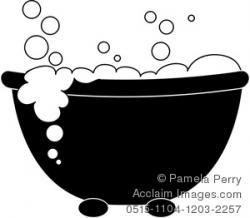 Bathtub clipart silhouette