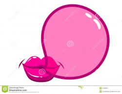Chewing Gum clipart blew