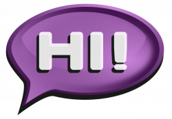 Hello! clipart speech bubble