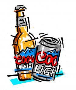 Bud Light clipart american beer