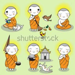 Buddha clipart indian monk