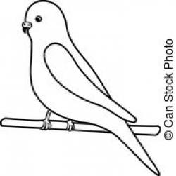 Budgerigar clipart black and white