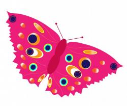 Papillon clipart colourful