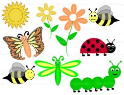 Pollination clipart spring animal