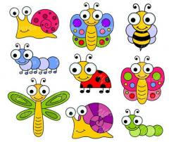 Lady Beetle clipart dragonfly