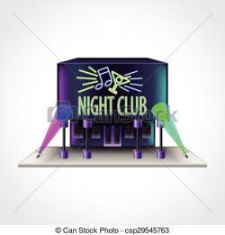 Bulding  clipart nightclub