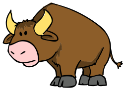 Bulls clipart cute cartoon
