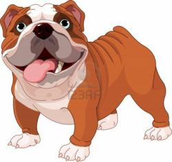 Cute clipart bulldog
