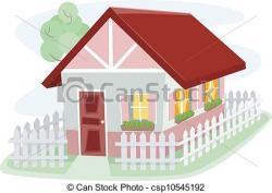Illustration clipart bungalow